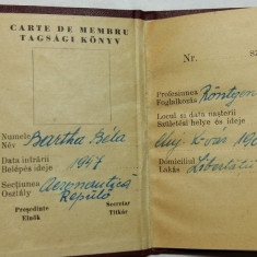 AVIATOR -AVIATIE -AERONAUTICA -CARTE DE MEMBRU - AS. METALUL ( VASAS ) CLUJ 1947 - Pasaport/Document