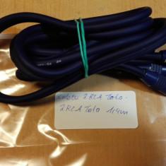 Cablu 2 RCA Tata - 2 RCA Tata 1, 4 m