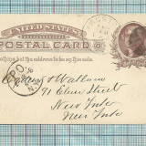 Carti Postale RARITATI-AMERICA-1887, Circulata, Fotografie