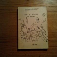 CURS DE HANDBAL - Paul Cercel  - Iasi, curs litografiat, 1973,  296 p., Alta editura