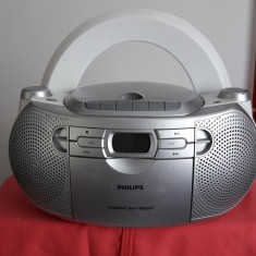 PHILIPS AZ 1027, CD RADIO CASETOFON . FUNCTIONEAZA . - CD player