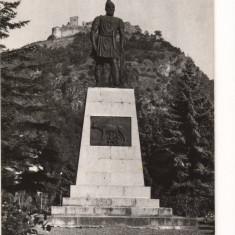 CPI (B8595) CARTE POSTALA - DEVA. STATUIA LUI DECEBAL, RPR - Carte Postala Transilvania dupa 1918, Necirculata, Fotografie