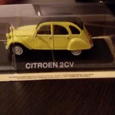 macheta citroen 2cv + revista masini de legenda nr. 62