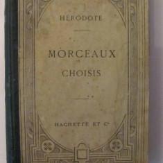 "GE - HERODOT ""Morceaux Choisis"" / limbile greaca si franceza / 1910"