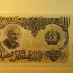 Bancnota Bulgaria - 200 leva 1951 unc necirculata 809555 - bancnota europa