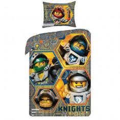 Lenjerie de pat cavalerii LEGO NEXO KNIGHTS - Lenjerie pat copii