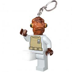 Breloc cu lanterna LEGO Star Wars Admiral Ackbar (LGL-KE59) - Breloc copii