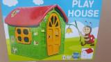 Casuta din plastic pentru copii, 2-4 ani, Unisex, Verde