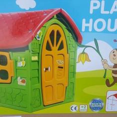 Casuta din plastic pentru copii - Casuta copii, 2-4 ani, Unisex, Verde