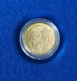 Moneda de 50 bani cu caracter comemorativ (in capsula) Vladislav I Vlaicu / F703, Alama