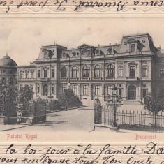 BUCURESTI PALATUL REGAL CLASICA CIRCULATA 1904 - Carte Postala Muntenia pana la 1904, Printata