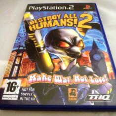 Destroy all Humans 2 Make War, not Love, PS2, original! Alte sute de jocuri! - Jocuri PS2 Ubisoft, Shooting, 12+, Single player