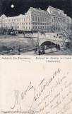 SALUTARI DIN BUCURESTI  PALATUL DE JUSTITIE  CHEIUL DAMBOVITEI CLASICA CIRC.1900, Circulata, Printata