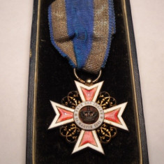 Ordinul Coroana Romaniei Cavaler Model de Argint la Cutie Ferdinand