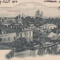BUCURESTI , VEDERE GENERALA , CLASICA , CIRCULATA 1902, Printata