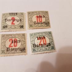 Romania/emisiunea baranya 1919 supratipar/porto/4v.MH - Timbre Romania, Nestampilat