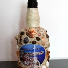 Sticla imbracata in scoici, suvenir din Vir, Croatia - 25.5 cm #250