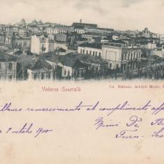 BUCURESTI VEDERE GENERALA CIRCULATA 1900 - Carte Postala Muntenia pana la 1904, Printata