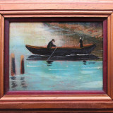 Plimbare cu barca - semnat ANNOT - Pictor roman, Peisaje, Ulei, Altul