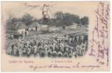 #2103- Romania, c.p. UPU  circ. 1900:  Folklor,  O Duminica la tara , Muntenia?