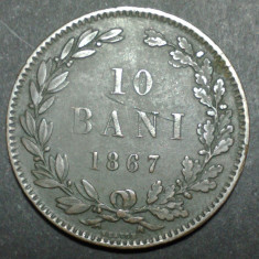10 bani 1867 3 Heaton - Moneda Romania