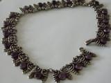 Colier argint vintage cu caboson ametist -2137