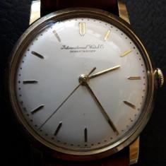 Schaffhausen ceas de mana aur 18k - Ceas barbatesc Iwc, Mecanic-Manual