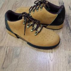 Pantofi barbat TIMBERLAND originali noi piele nubuck camel foarte comozi 40, Piele intoarsa, Casual