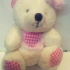Jucarie Plus - model Ursulet Baby h 11 cm- roz / bleo - Figurina Animale Altele, 4-6 ani, Unisex