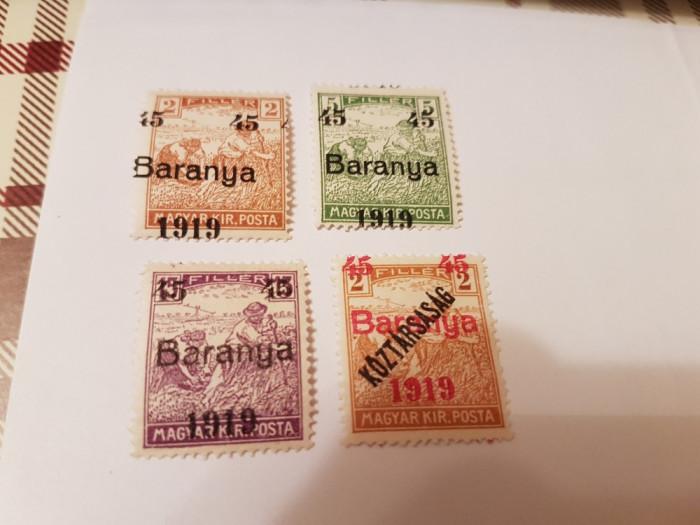 romania/emisiunea baranya 1919 supratipar/seceratori/s