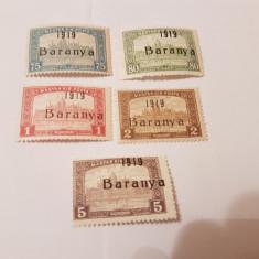 Romania/emisiunea baranya 1919 supratipar/parlament/5v. MH - Timbre Romania, Nestampilat