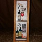 Cutie pentru sticla de vin din lemn si sticla