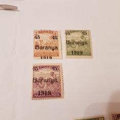 Romania/emisiunea baranya 1919 supratipar/seceratori/3v.MH// - Timbre Romania, Nestampilat