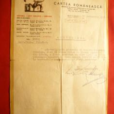 Adeverinta cu Antet a Editurii Cartea Romaneasca la 16 oct. 1945 - Hartie cu Antet