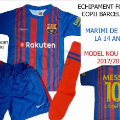 ECHIPAMENTE FOTBAL BARCELONA-MESSI, COPII 4/14 ANI.MODEL 2017/2018 - Set echipament fotbal Macron, Marime: XXL, XL, L, M, S