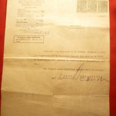 Certificat al Bancii Romanesti cu Antet, infiintata la 1911, dat in 1945 - Hartie cu Antet