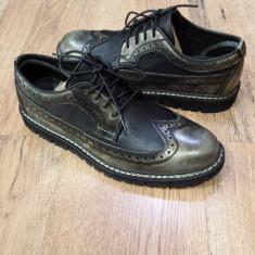 Superbi pantofi brogue barbat TIMBERLAND originali piele integral sz.42 ! - Pantofi barbat Timberland, Culoare: Gri, Piele naturala, Eleganti