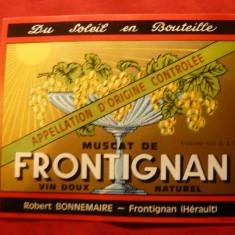Eticheta de VIN - Muscat de Frontignon , interbelica