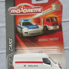 + Machete metalice masini Majorette SOS/constructii + - Macheta auto Majorette, 1:58