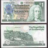 SV * Scotia / UK ONE POUND 1992 UNC <Summit-ul European Edinburgh, Scotland> - bancnota europa