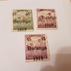 Romania/emisiunea baranya 1919 supratipar/seceratori/3v.MH/// - Timbre Romania, Nestampilat