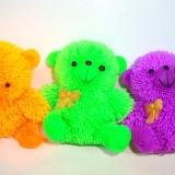 Jucarie din silicon cu led - modele Ferma animalelor - h 9 cm - Ursulet, 1 buc - Figurina Animale Altele, 4-6 ani, Unisex