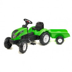 Tractor Garden Master Verde cu Remorca Falk