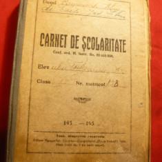 Carnet de Scolaritate 1938 - Liceul Comercial Sibiu, cuprinde si instructiuni - Diploma/Certificat