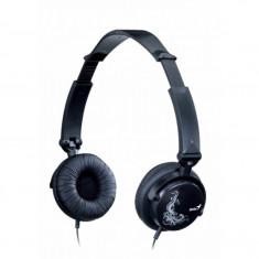 Casti Genius HS-410F, Casti On Ear, Cu fir, Mufa 3, 5mm