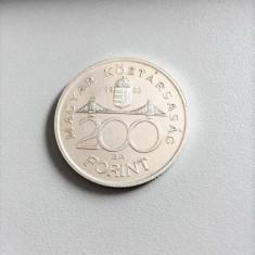 MONEDA ARGINT UNGARIA 200 FORINT 1992, Europa