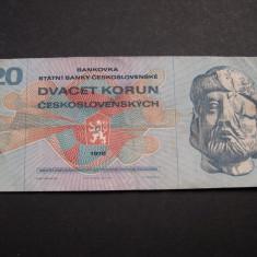 Cehoslovacia 20 korun 1970 H70 - bancnota europa