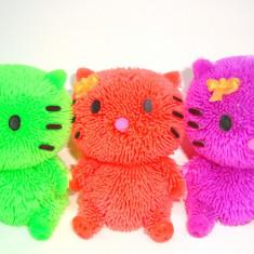 Jucarie silicon cu led - modele Ferma animalelor - h 10 cm- Hello Kitty, 1 buc - Figurina Animale Altele, 4-6 ani, Unisex
