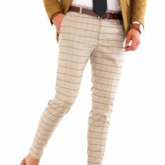 Pantaloni carouri - barbati - nunta - botez - petrecere - COLECTIE NOUA 8214 - Pantaloni barbati, Marime: 31, 32, 33, 36, Culoare: Din imagine