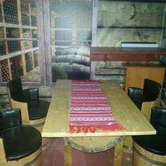 Set masa si 4 scaune butoi - Mobila pentru restaurant